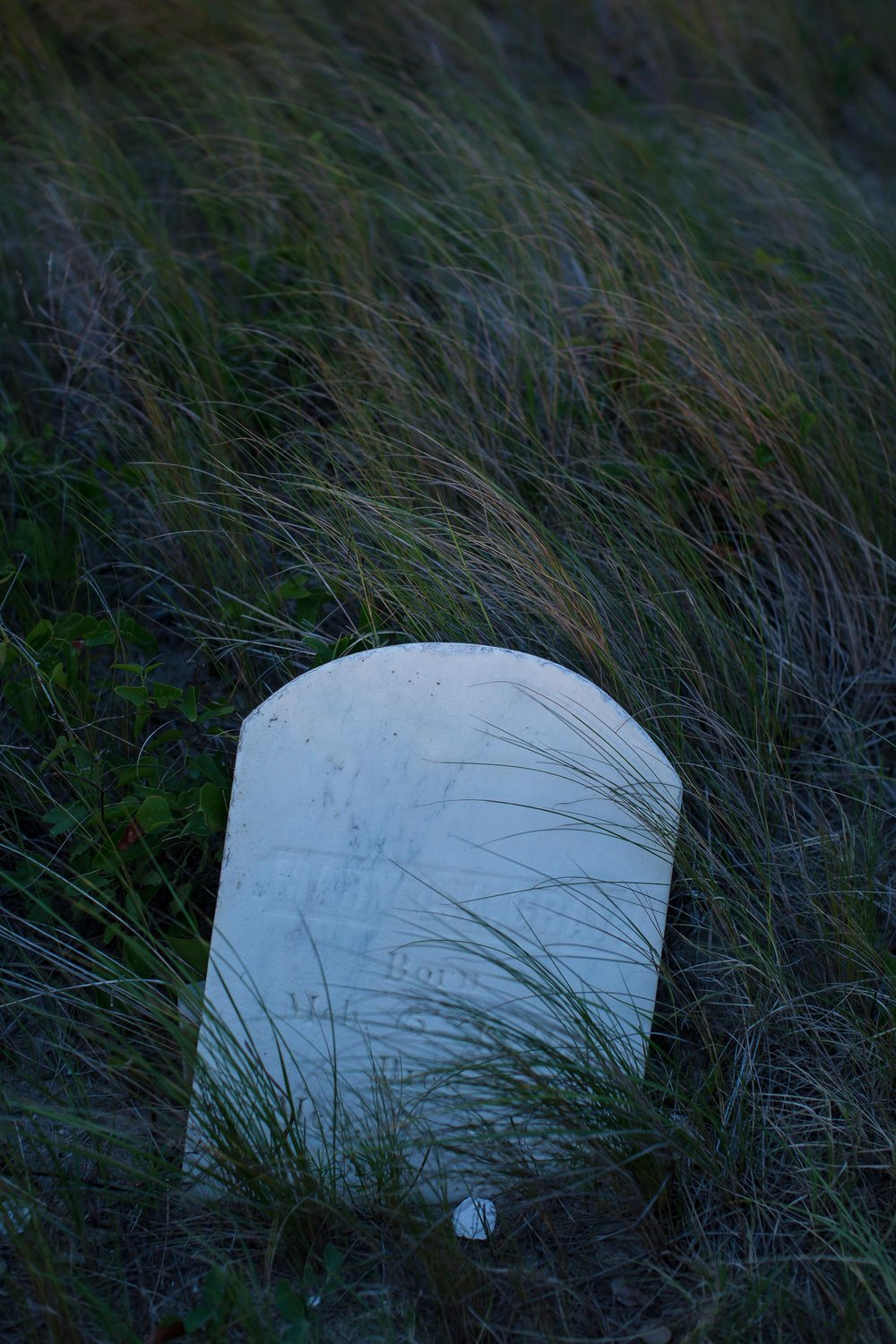 The grave of Mary L.A. Gray, March 5, 1836 - March 7, 1902.