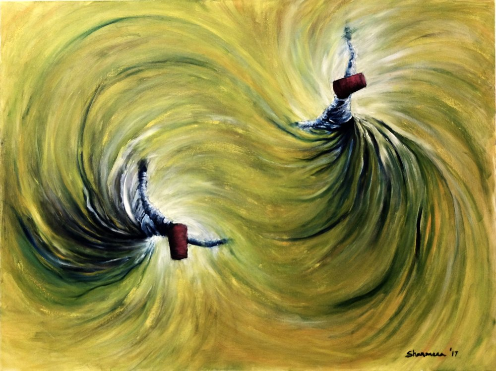 Whirling Dervishes II - 2017. Oil on Canvas. 36