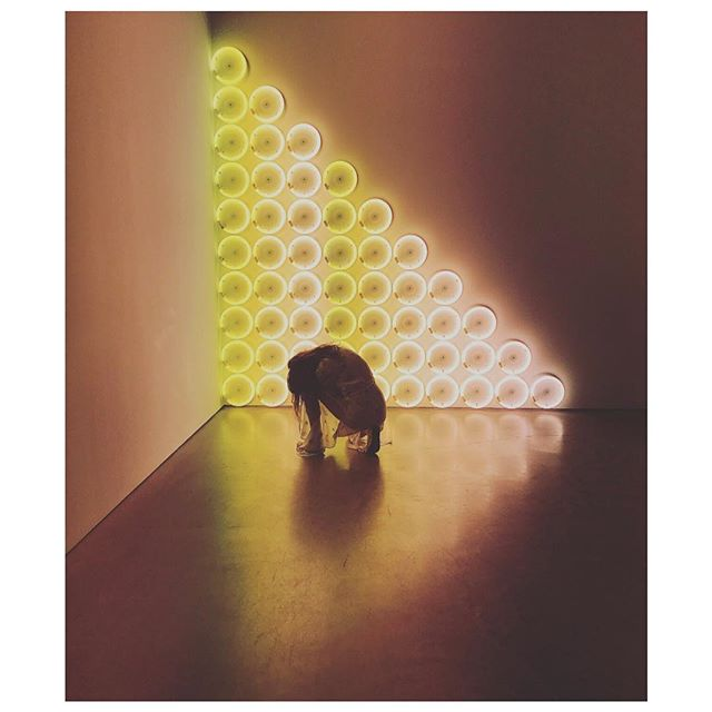 @_icat_  @ #DanFlavin installation | #InspiredByLight
