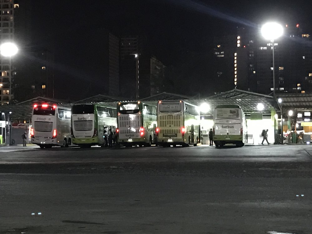 TusBuses - waiting to head to their destinations,