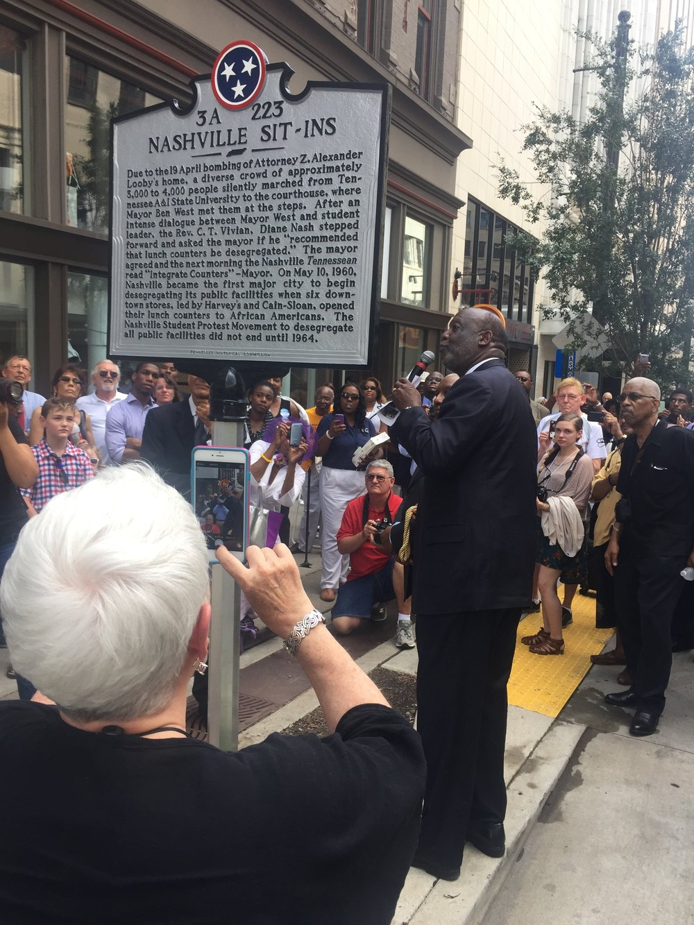 Unveiling PRESS EVENT Nashville Civil Rights Marker