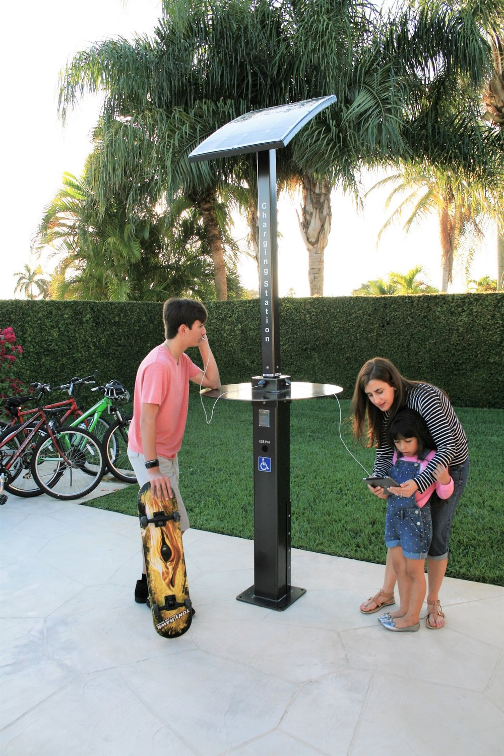 Solar Charging Pole for parks