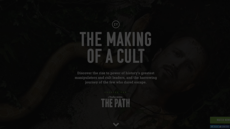 WINNER - 'THE MAKING OF A CULT'HULU, OZY, UM LA