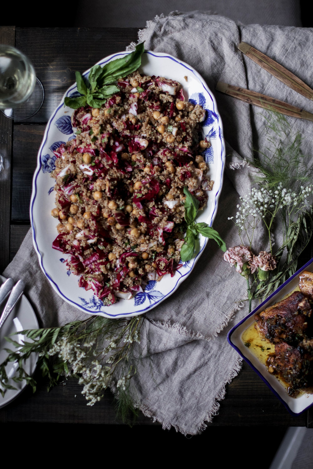 balsamic chickpea and radicchio quinoa salad, herbed white wine chicken, roasted vegetables with shallot and tarragon dressing -38.jpg