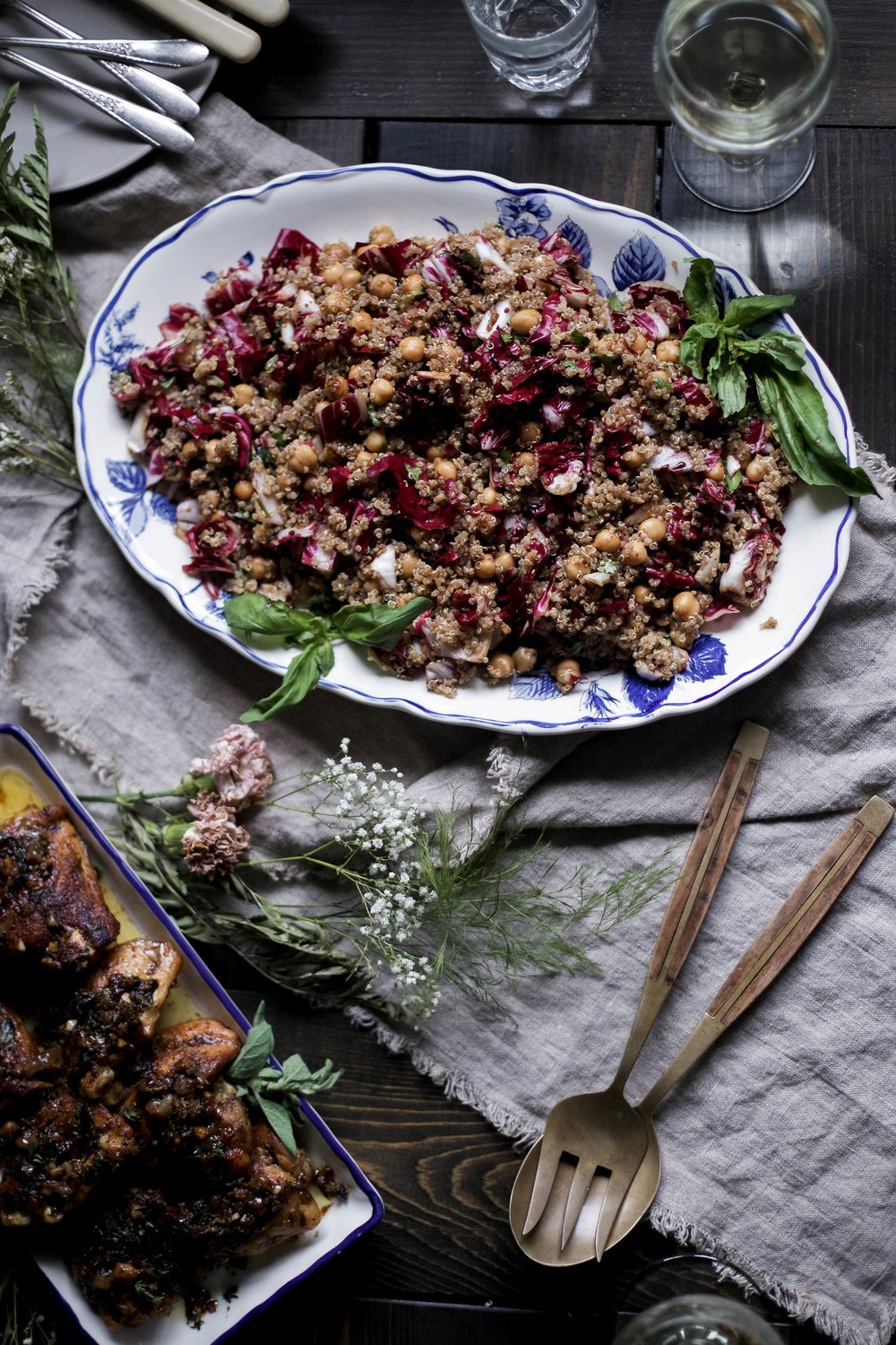 balsamic chickpea and radicchio quinoa salad, herbed white wine chicken, roasted vegetables with shallot and tarragon dressing -66.jpg