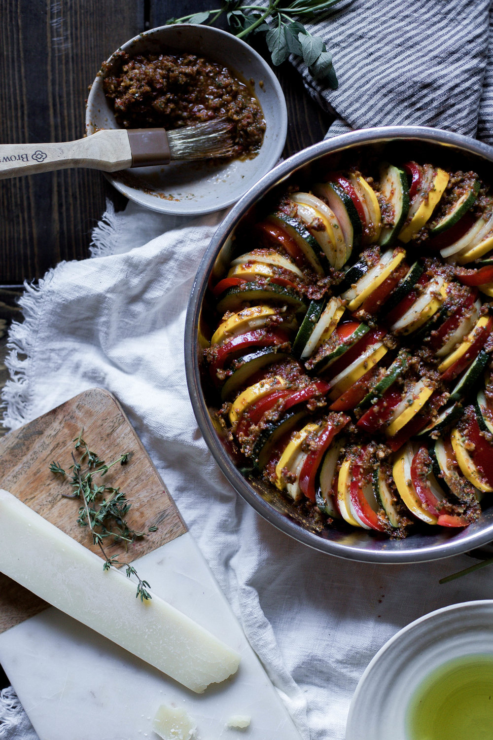 sun dried tomato basil pesto ratatouille {provencal tian} (10 of 1).jpg