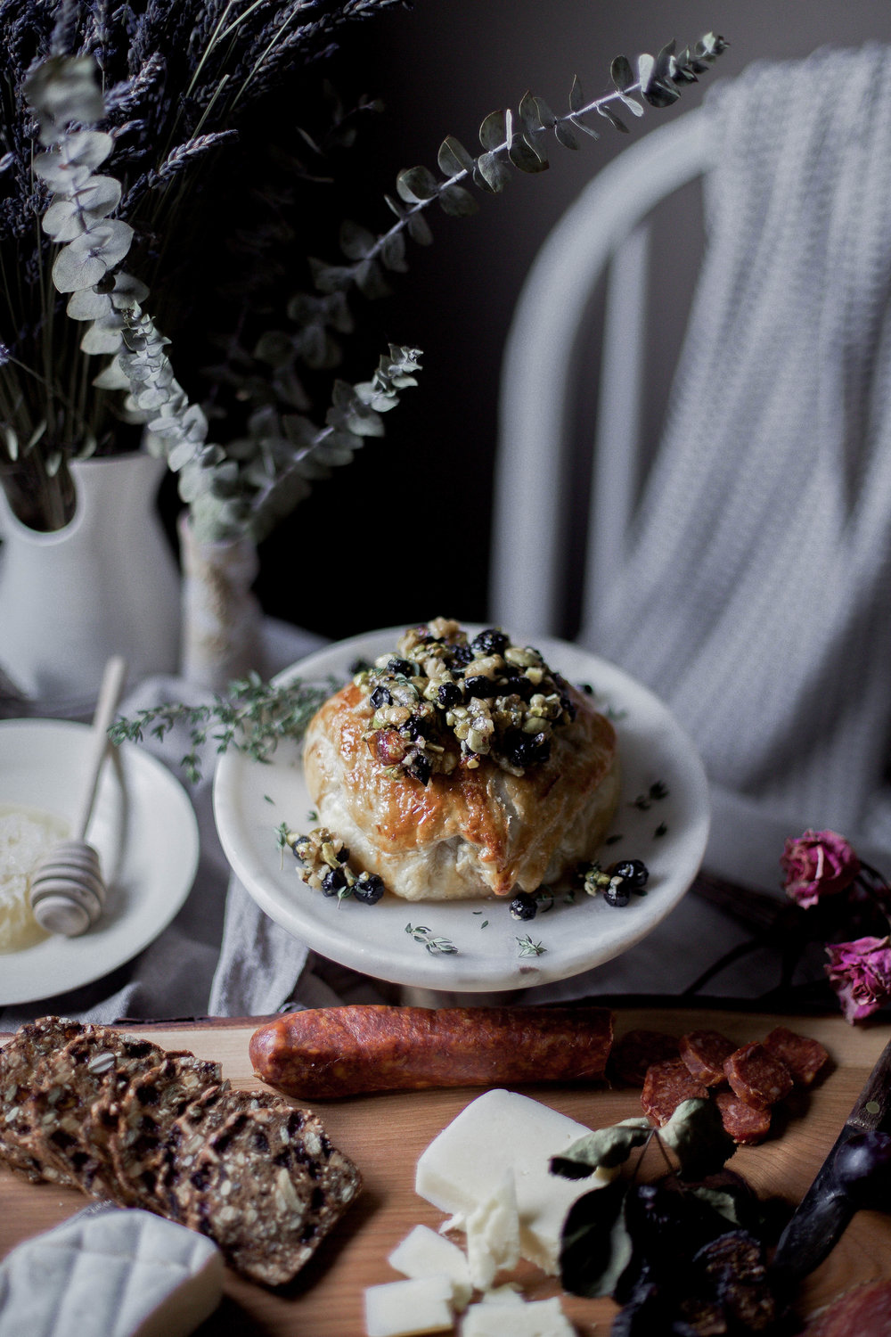 honey puff wrapped baked brie with dried blueberries, walnuts & pistachios (15 of 1).jpg