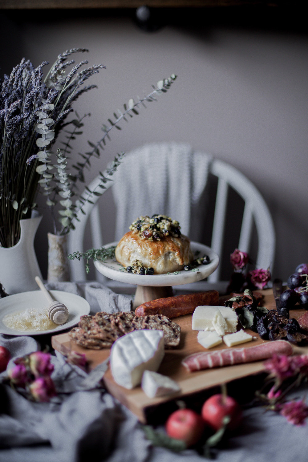 honey puff wrapped baked brie with dried blueberries, walnuts & pistachios (12 of 1).jpg