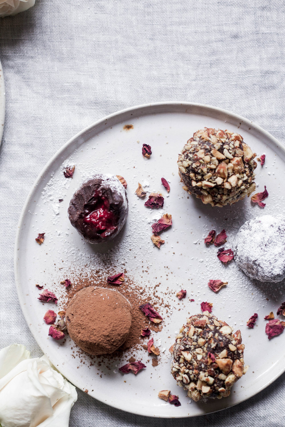 raspberry filled dark chocolate truffles coated three ways (25 of 1).jpg