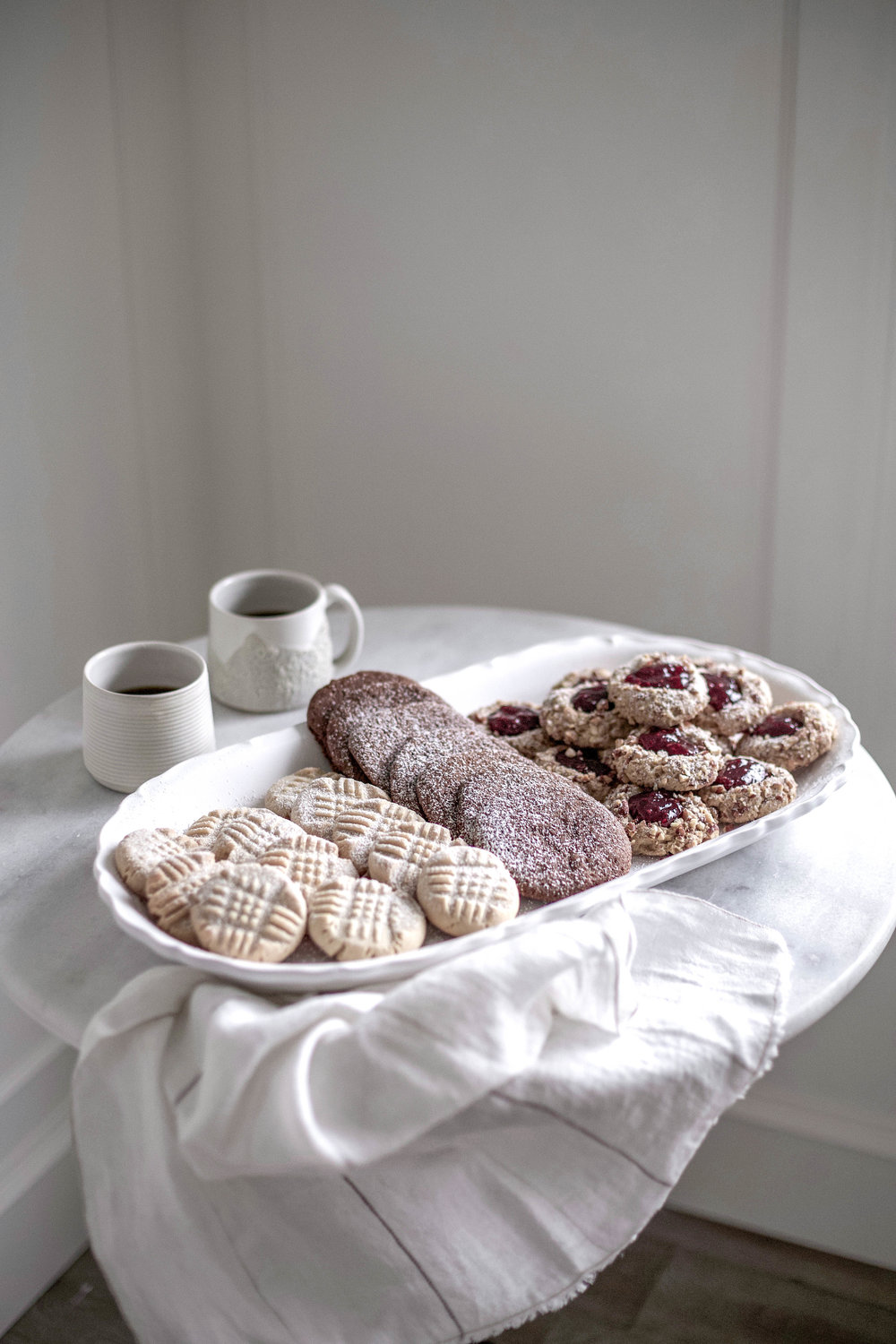 classic christmas cookies; jam thumbprints, chewy gingergbread, buttery shortbread (15 of 1).jpg