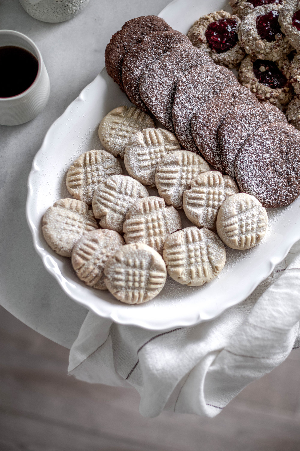 classic christmas cookies; jam thumbprints, chewy gingergbread, buttery shortbread (17 of 1).jpg
