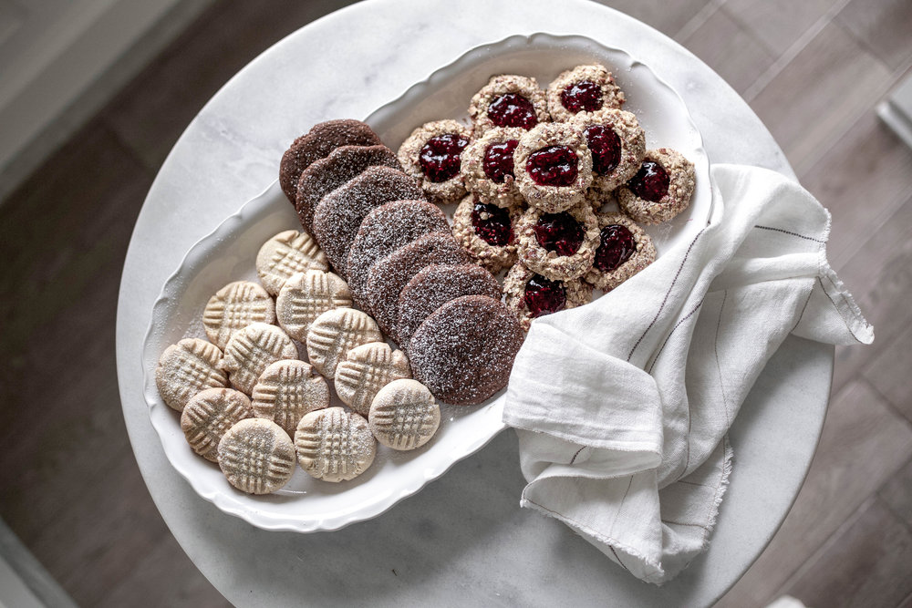 classic christmas cookies; jam thumbprints, chewy gingergbread, buttery shortbread (1 of 1).jpg