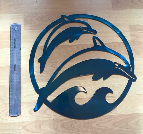 Dolphin Scene Metal Wall Art — Blue Collar Products by Design LLC ...