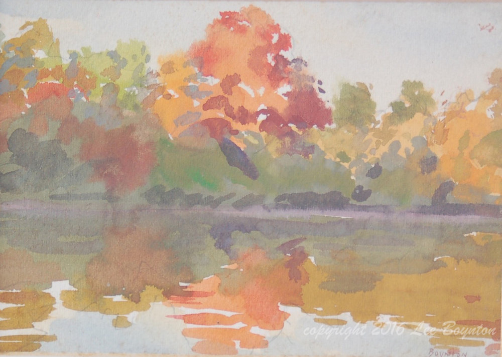 Sold- College Creek Fall, 5x7