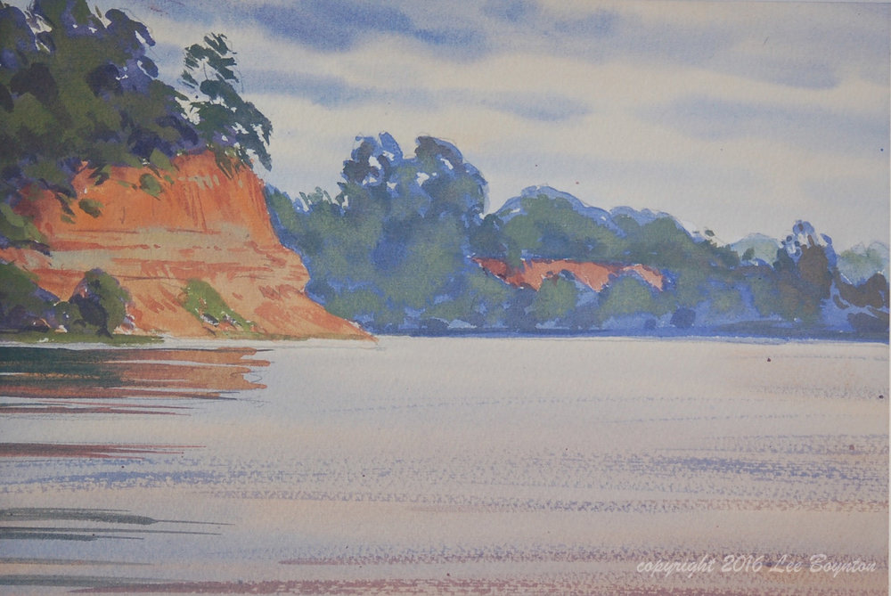 Red Cliffs, Severn River, 7x10