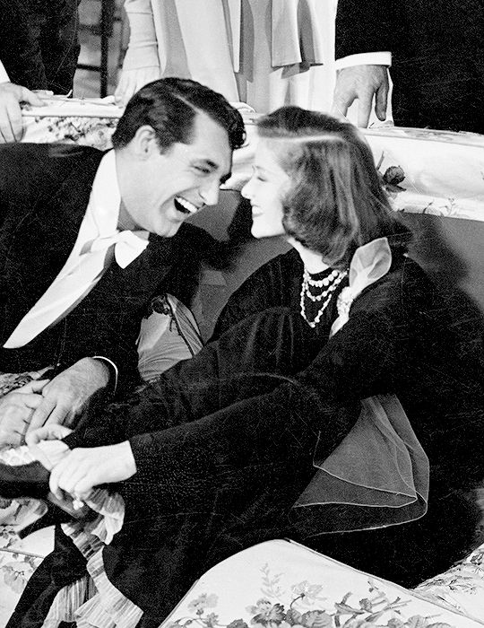 "With Katherine Hepburn in ""Philadelphia Story"""