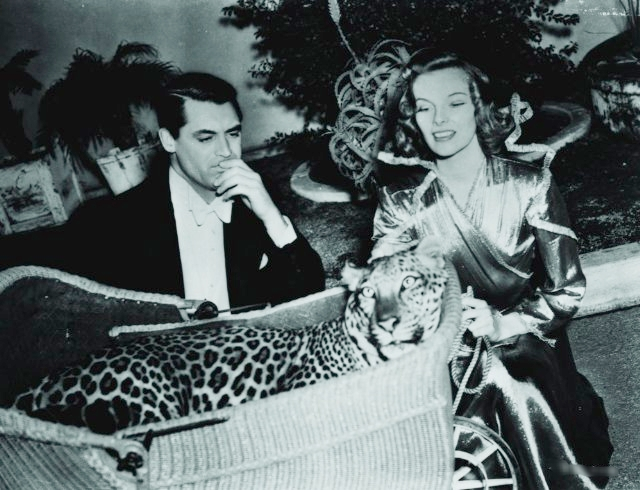 "With Katherine Hepburn in ""Bringing Up Baby"""
