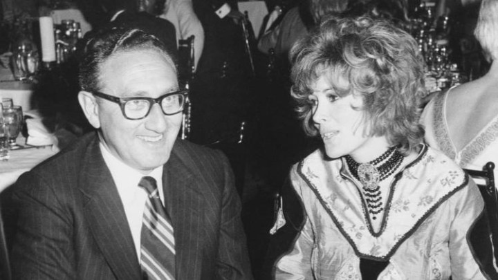 KISSINGER WITH HIS FRIEND JILL ST JOHN