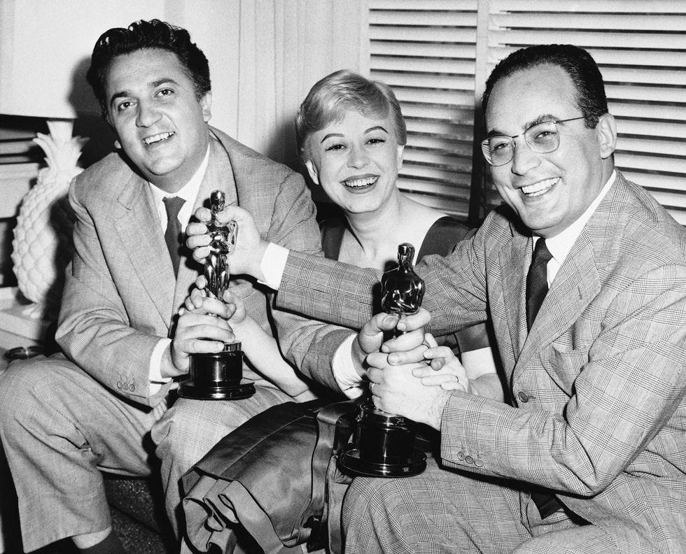 DINO WITH FELLINI AND GUILIETTA MASINA