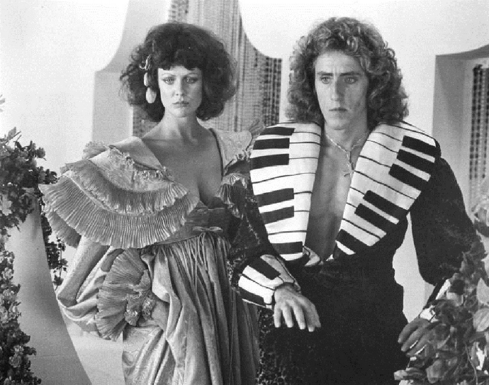 "Me and Roger Daltrey in ""Lisztommania"""