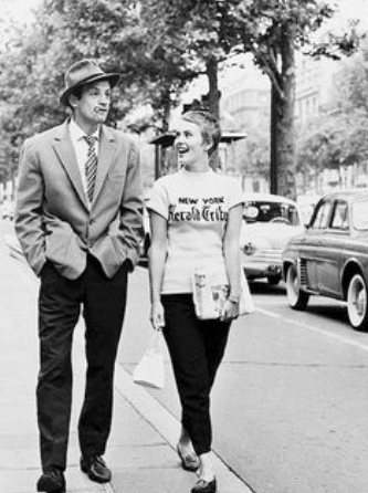 "JEAN-PAUL BELMONDO AND JEAN SEBERG IN ""BREATHLESS"""