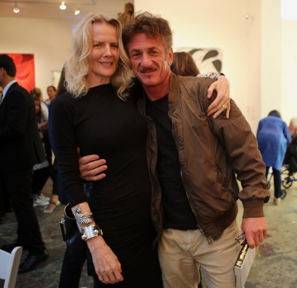 Fiona Lewis and Sean Penn