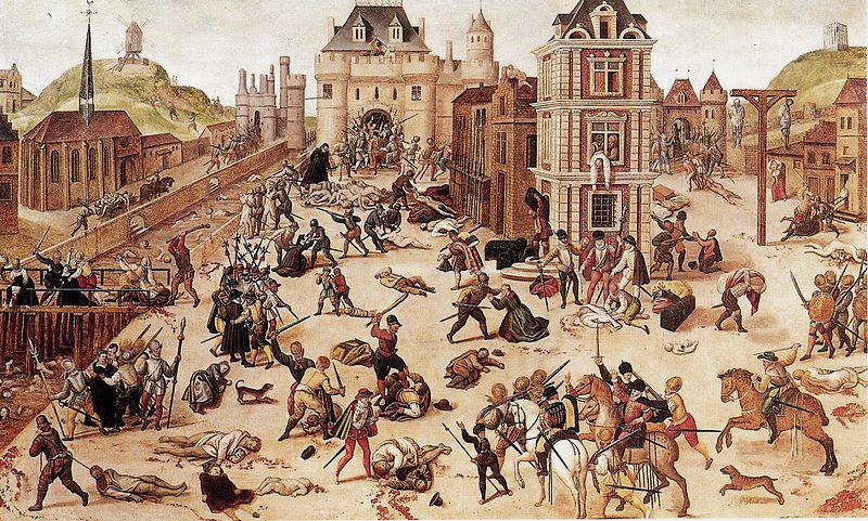 HUGUENOTS BEING SLAUGHTERED IN FRANCE