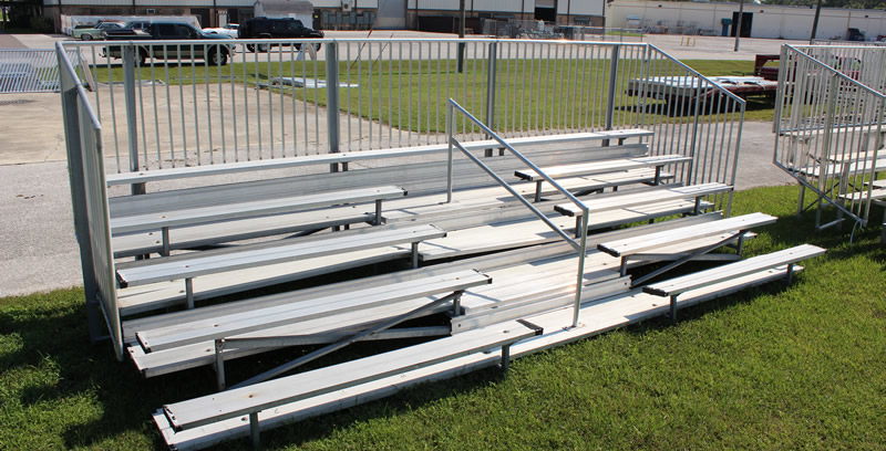 Non-Elevated Aluminum Bleacher Seating
