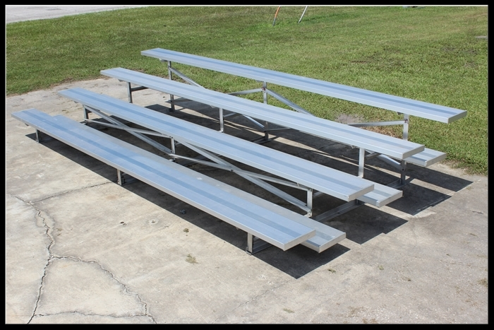 4  Row Non-Elevated Aluminum Bleacher   Click here for free, printable CAD drawings!