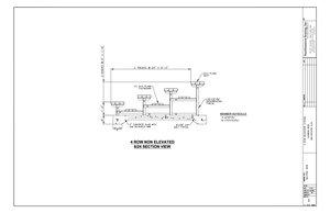 4 Row Aluminum Bleacher CAD