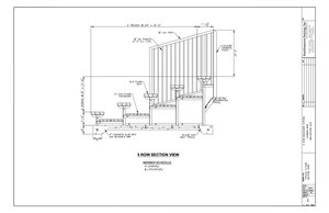 5 Row Aluminum Bleacher CAD (w/ aisle)
