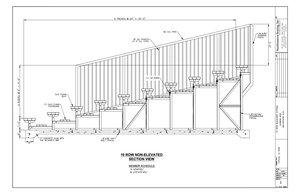 10 Row Aluminum Bleacher (w/o Aisle) CAD