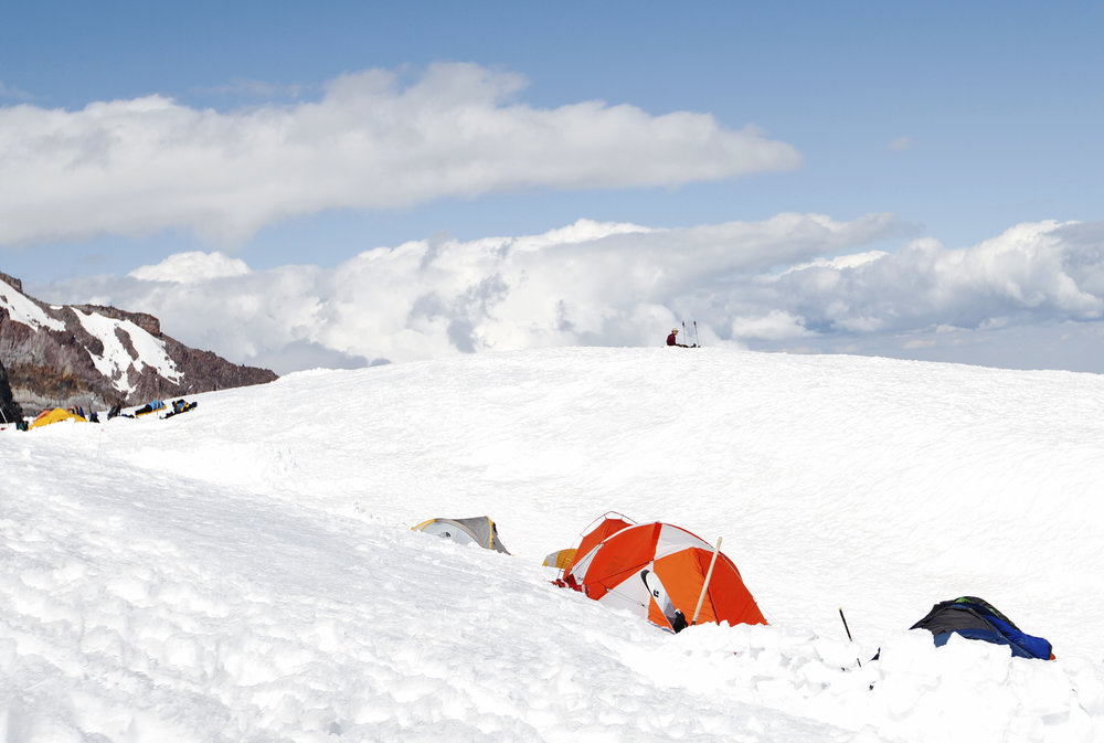 The people in those tents are going for the summit, and I want to be one of them.
