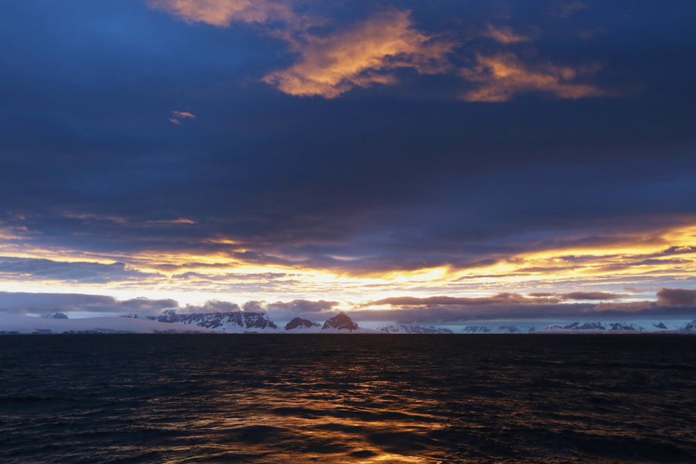 Cloudy sunrise followed by...