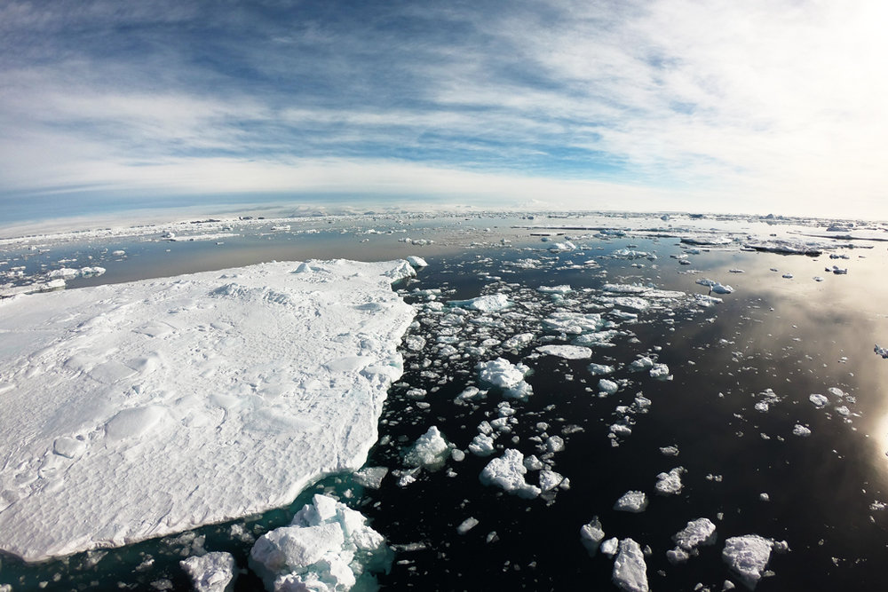 Crossing the Weddell Sea on February 23rd.