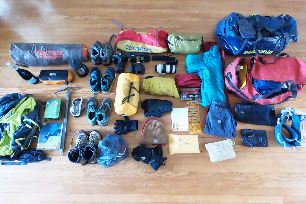 Nomad life: preparing to pack everything I'll need for three months of traveling this summer.