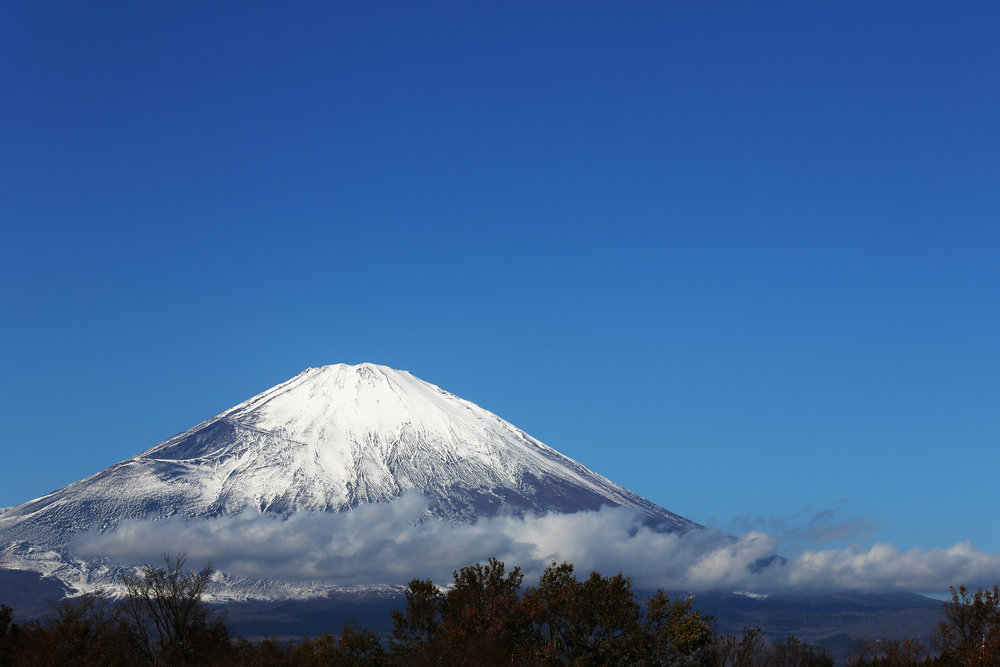 Striking views of Mt. Fuji can be enjoyed from all kinds of locations in Japan — even a highway rest stop.
