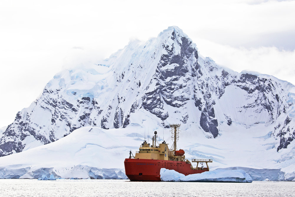 The R/V  Laurence M. Gould  in Andvord Bay, Antarctica | March 2018