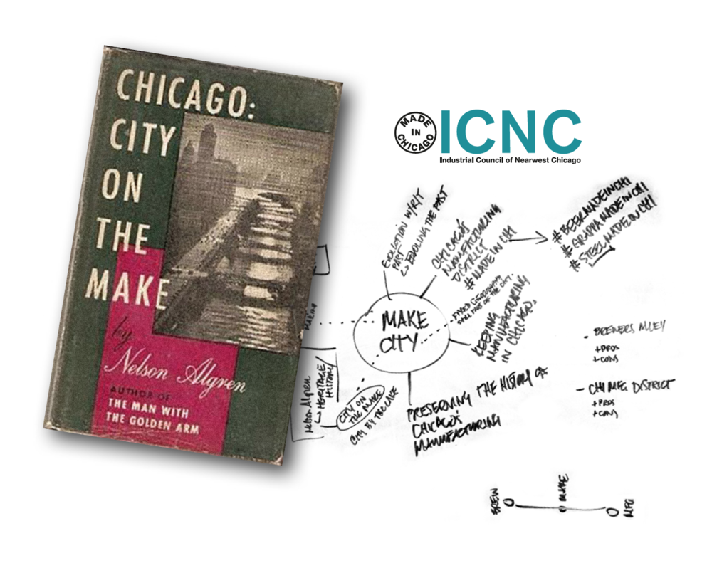 We looked to a classic of the Chicago literary canon to inspire the name, brand identity and messaging strategy for the  Industrial Council of Nearwest Chicago  (ICNC)'s industrial start-up incubator.