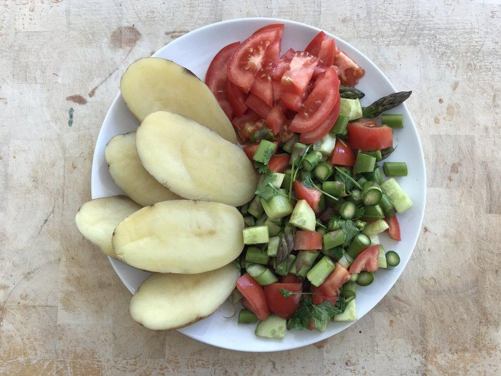 Perunat ja kasvikset. Täyttävää ja puhdistavaa sekä ravinteikasta ruokaa. Kaunistavaa -miehillekin!