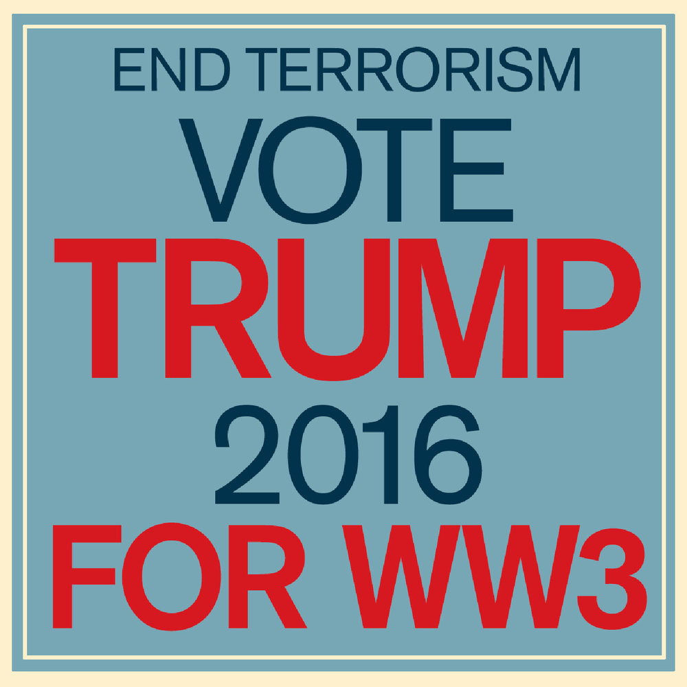 C1 Michele Castegnetti, TRUMP for WWIII Poster
