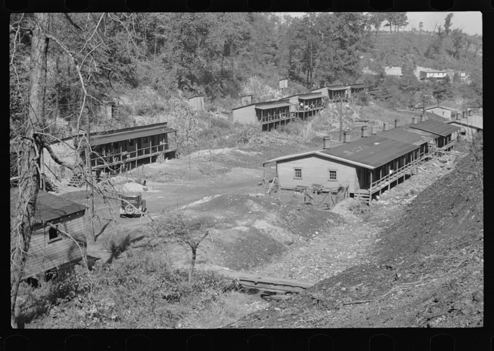 The Patch, a shanty town at Cassville, Scotts Run, West Virginia. Ben Shahn, October 1935, Farm Security Administration - Office of War Information Photograph Collection (Library of Congress).