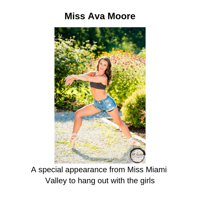 A special appearance from Miss Miami Valley's Outstanding Teen to hang out with the girls.jpg