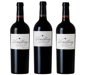 Selection of fine wines from Lewelling Vineyards