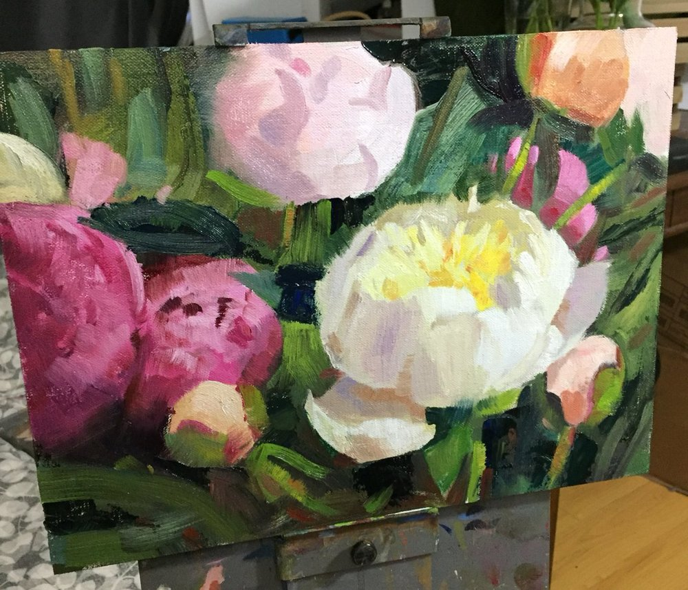 Peony Bloom – 9x12 – $395