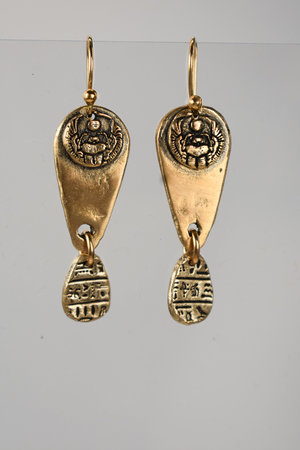 article a pair hammer ancient are earrings egyptian pedigree novelist year old and once part of this image collection belonged jane femail jewels go beautiful literary years that elizabeth howard to