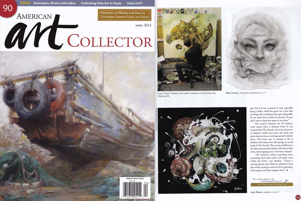 "April 2013 - American Art Collector, Artist Greg ""CRAOLA"" Simkins"
