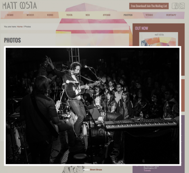 March 21, 2013 - Matt Costa Website