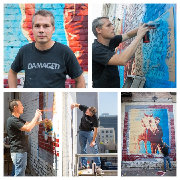 Shepard Fairey Mural Shoot