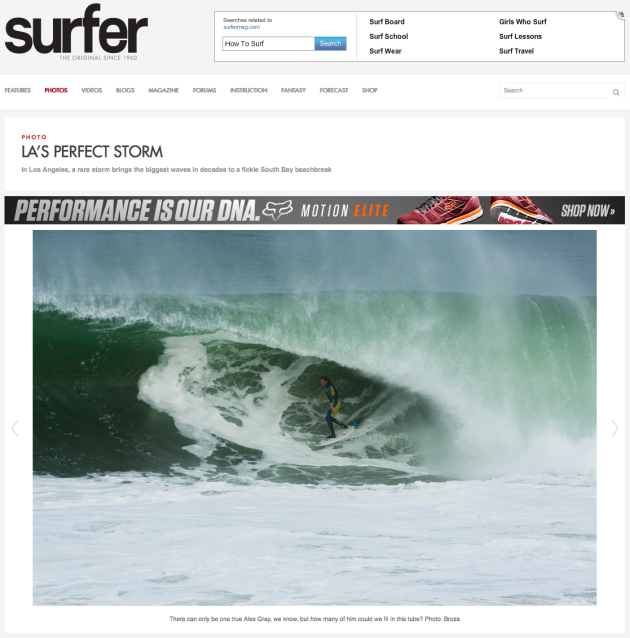 March 2, 2014 - Surfer Magazine - Alex Gray